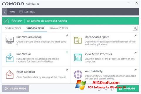 Képernyőkép Comodo Antivirus Windows 10