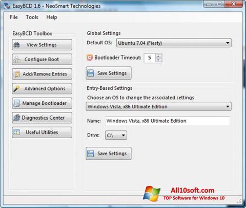 Képernyőkép EasyBCD Windows 10
