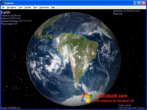 Képernyőkép Celestia Windows 10