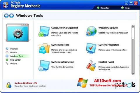 Képernyőkép Registry Mechanic Windows 10