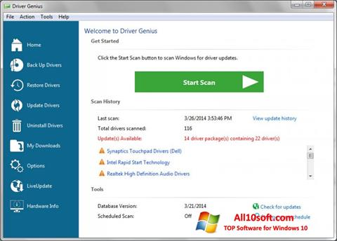Képernyőkép Driver Genius Professional Windows 10