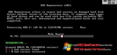 Képernyőkép HDD Regenerator Windows 10