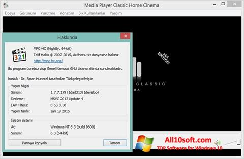 Képernyőkép K-Lite Codec Pack Windows 10