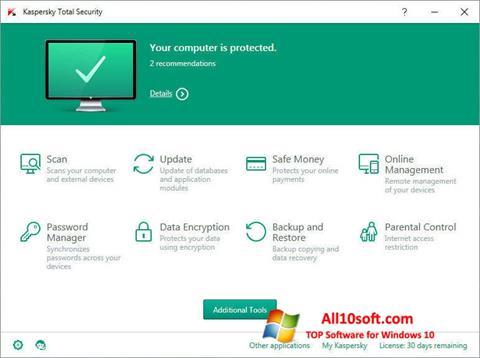 Képernyőkép Kaspersky Total Security Windows 10