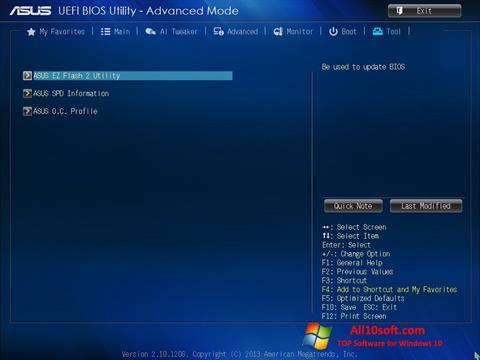 Képernyőkép ASUS Update Windows 10