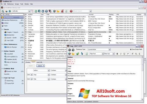 Képernyőkép EndNote Windows 10