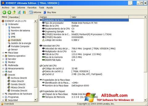 Képernyőkép EVEREST Ultimate Edition Windows 10
