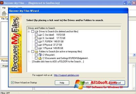 Képernyőkép Recover My Files Windows 10