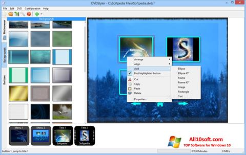 Képernyőkép DVDStyler Windows 10