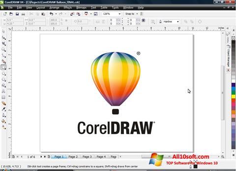 Képernyőkép CorelDRAW Windows 10