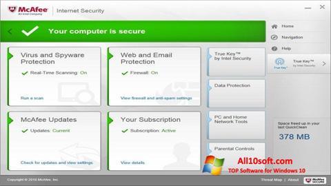 Képernyőkép McAfee Windows 10