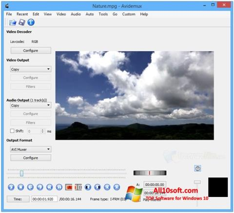 Képernyőkép Avidemux Windows 10