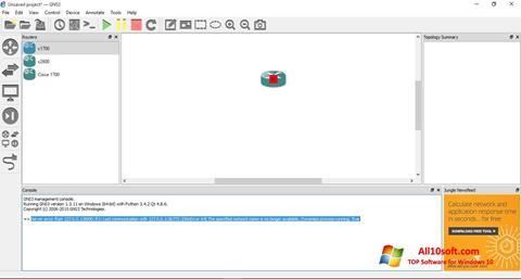 Képernyőkép GNS3 Windows 10
