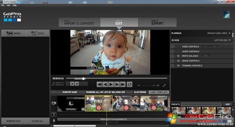Képernyőkép GoPro Studio Windows 10