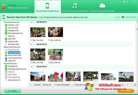 Képernyőkép iPhone Data Recovery Windows 10