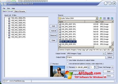 Képernyőkép FastStone Photo Resizer Windows 10