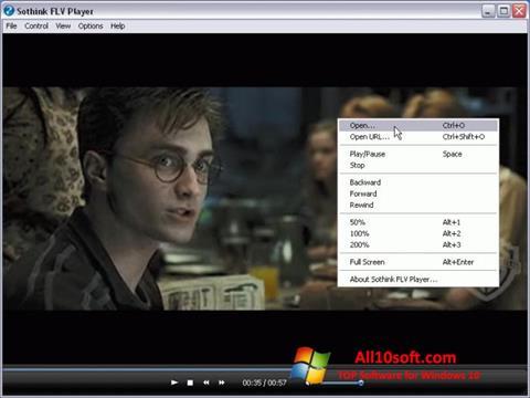 Képernyőkép FLV Player Windows 10