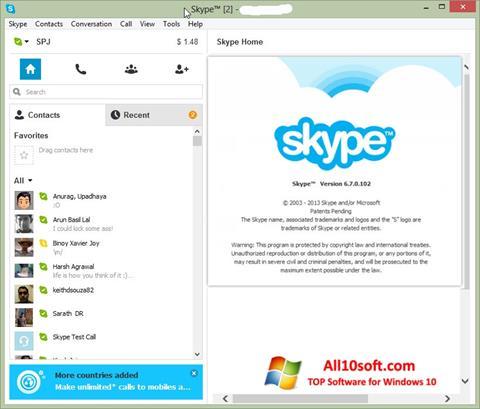 Képernyőkép Skype Setup Full Windows 10