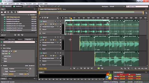 Képernyőkép Adobe Audition CC Windows 10