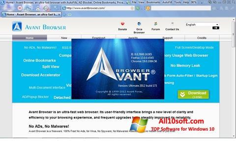 Képernyőkép Avant Browser Windows 10