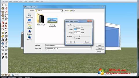 Képernyőkép SketchUp Windows 10