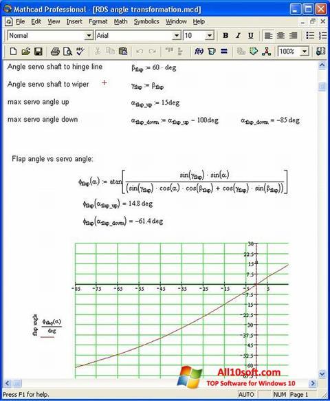 Képernyőkép MathCAD Windows 10