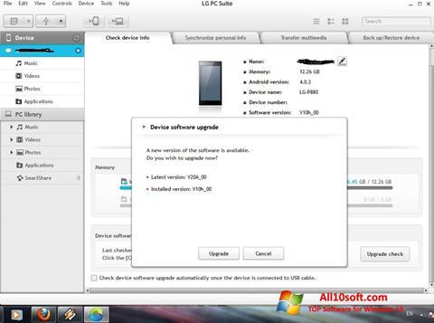 Képernyőkép LG PC Suite Windows 10