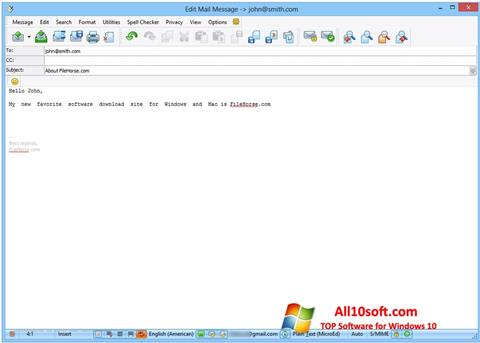 Képernyőkép The Bat! Windows 10