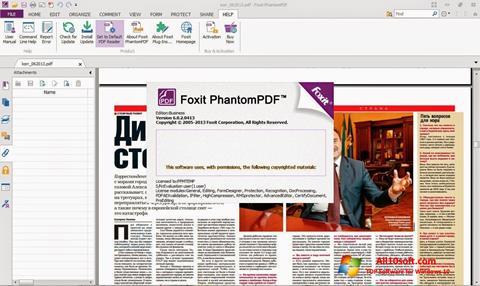 Képernyőkép Foxit Phantom Windows 10