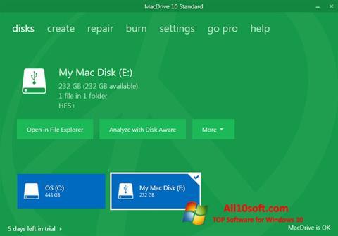 Képernyőkép MacDrive Windows 10