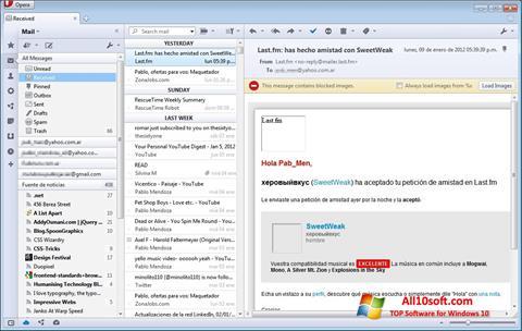 Képernyőkép Opera Mail Windows 10
