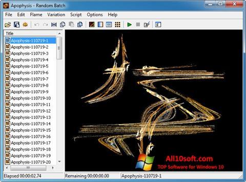 Képernyőkép Apophysis Windows 10