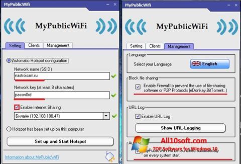 Képernyőkép MyPublicWiFi Windows 10