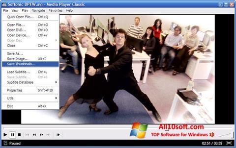 Képernyőkép Media Player Classic Windows 10