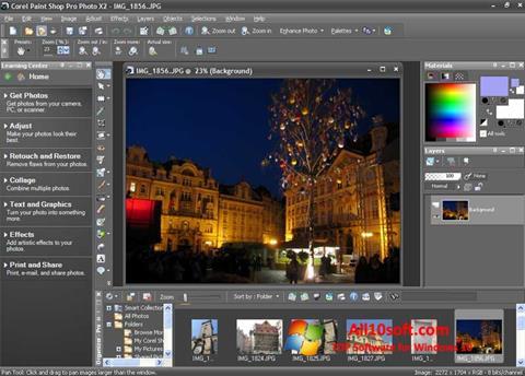 Képernyőkép PaintShop Pro Windows 10