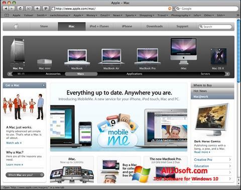 Képernyőkép Safari Windows 10