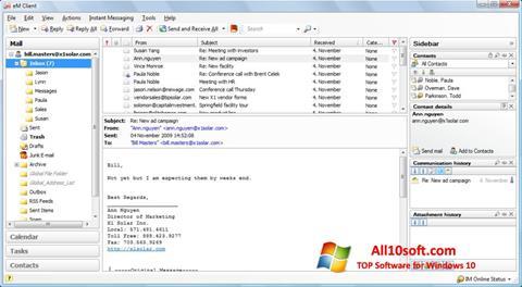 Képernyőkép eM Client Windows 10