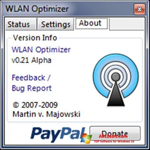 Képernyőkép WLAN Optimizer Windows 10