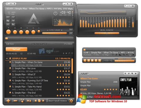 Képernyőkép AIMP Windows 10