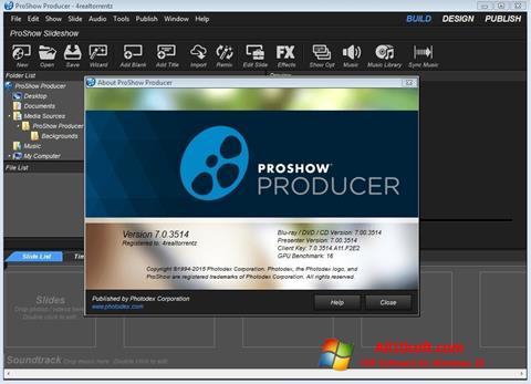 Képernyőkép ProShow Producer Windows 10