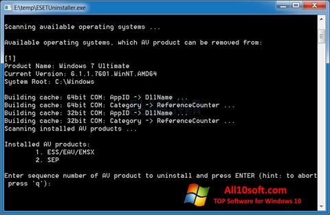 Képernyőkép ESET Uninstaller Windows 10