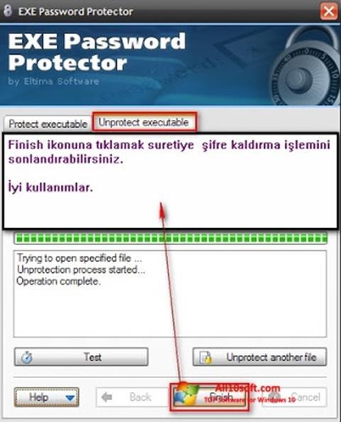 Képernyőkép EXE Password Windows 10