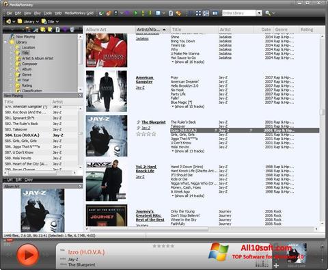 Képernyőkép MediaMonkey Windows 10