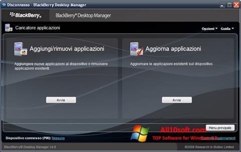 Képernyőkép BlackBerry Desktop Manager Windows 10