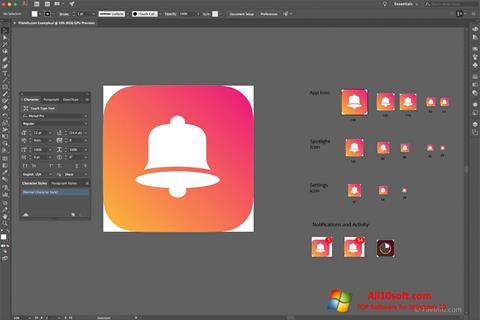 Képernyőkép Adobe Illustrator CC Windows 10