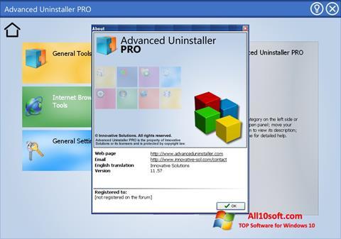 Képernyőkép Advanced Uninstaller PRO Windows 10