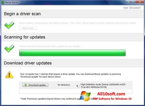 Képernyőkép Device Doctor Windows 10