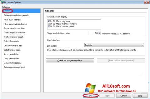 Képernyőkép DU Meter Windows 10