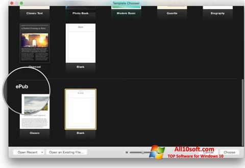 Képernyőkép iBooks Windows 10