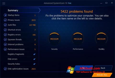 Képernyőkép Advanced SystemCare Free Windows 10